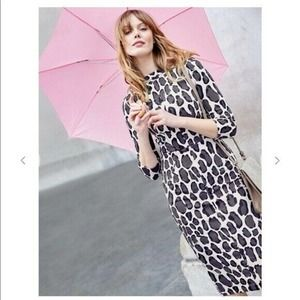 Boden Marisa Leopard Elbow Sleeve Sheath Dress 12R
